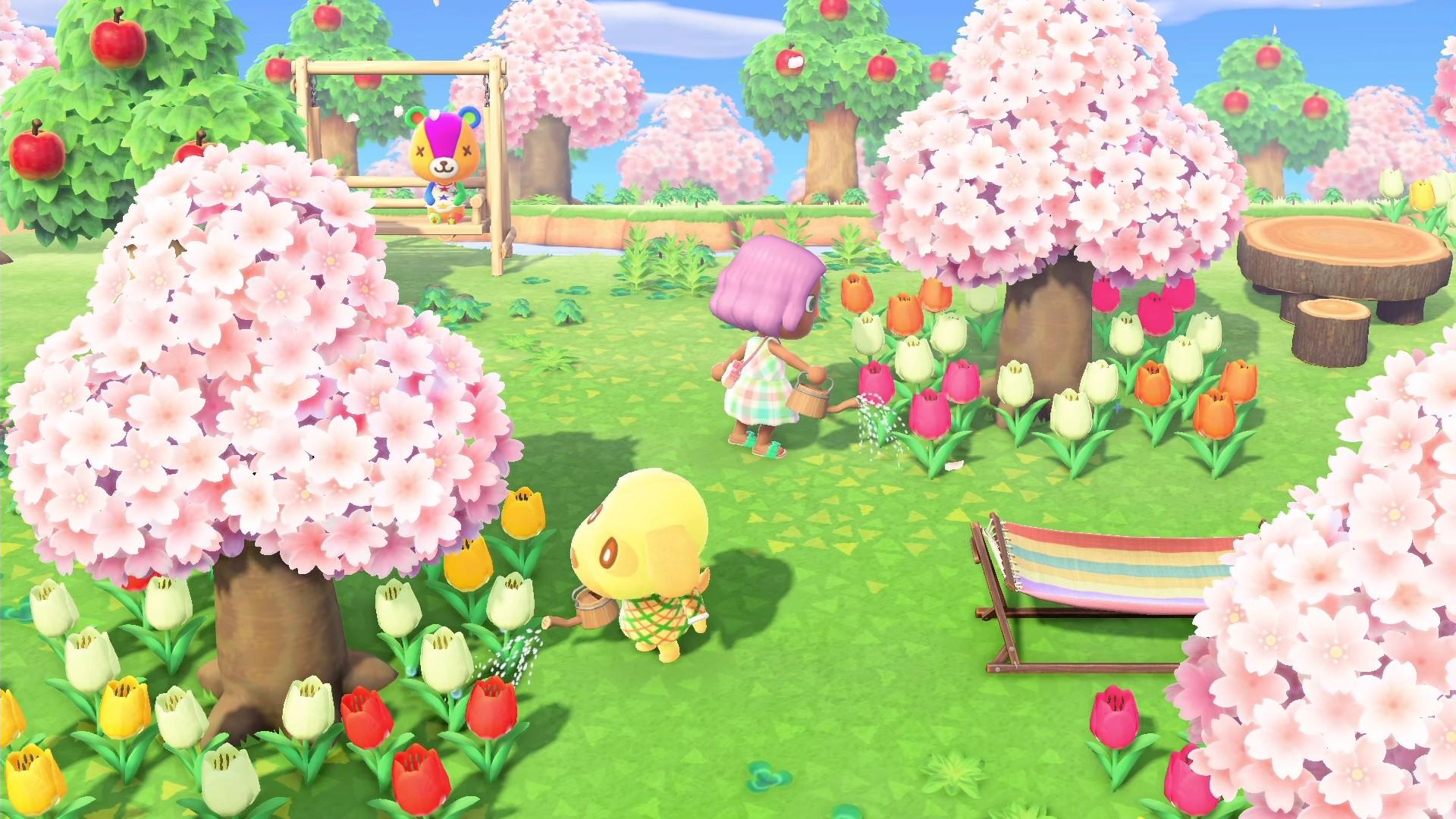 桜やチューリップがきれいですね (^-^) 季節は春かな
